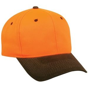 Blaze Orange Structured Cap with Waxed Cotton Canvas Visor
